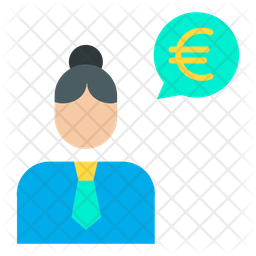 Euro woman conversation Icon