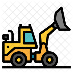 Excavator Colored Outline Icon