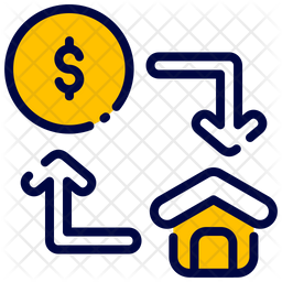 Exchange Colored Outline Icon