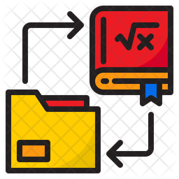 Exchange Book Colored Outline Icon