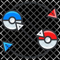 Exchange Pokemon Colored Outline Icon