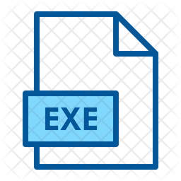 Exe Colored Outline Icon
