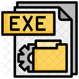 Exe File Colored Outline Icon