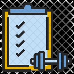 Exercise checklist Icon