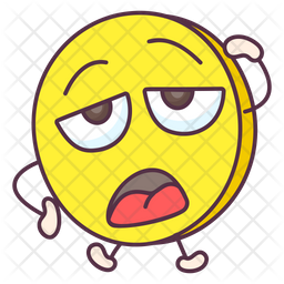 Exhausted Coin Emoji Icon