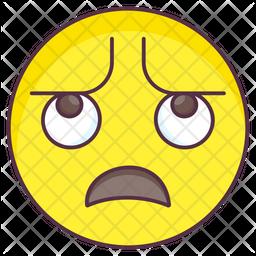 Exhausted Emoji Colored Outline  Emoji Icon