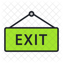 Exit Icon Of Colored Outline Style Available In Svg Png Eps Ai Icon Fonts