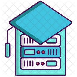 Expert System Colored Outline Icon