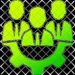 Expert Team Gradient Icon