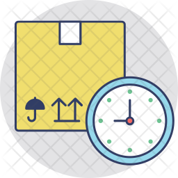 Express Delivery Colored Outline Icon