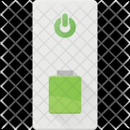 External battery Flat Icon