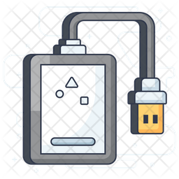 External Hard Drive Icon Of Colored Outline Style Available In Svg Png Eps Ai Icon Fonts