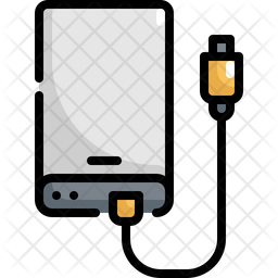 External Harddisk Icon Of Colored Outline Style Available In Svg Png Eps Ai Icon Fonts