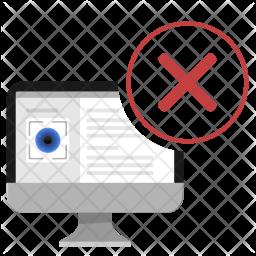 Eye, Detect, Data, Person, Delete, Cancel, Enter Icon