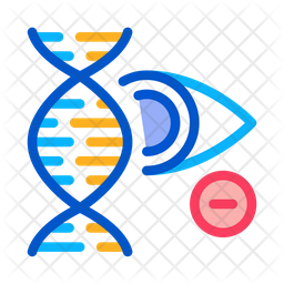 Eye Dna Colored Outline Icon