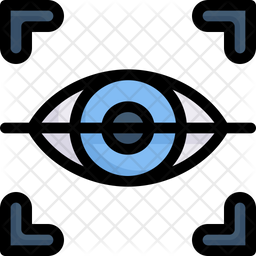 Eye Scan Colored Outline Icon