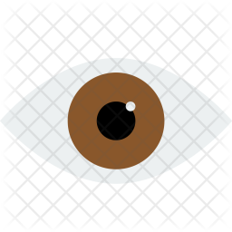 Eye, View, Read, Preview, See, Watch, Look, Brown Icon