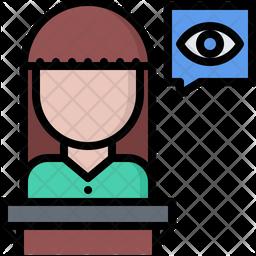 Eye witness Icon