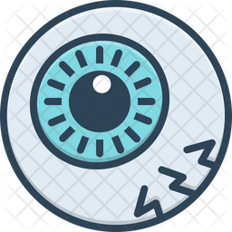 Eyeball Colored Outline Icon