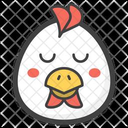 Eyes Down Egg Emoji Icon
