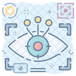Eyetap Technology Colored Outline Icon