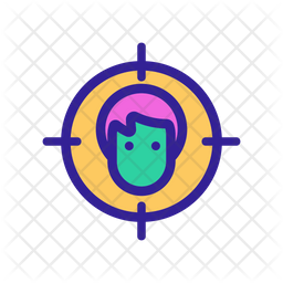 Face Detection Colored Outline Icon