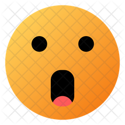 Face With Open Mouth Emoji Icon