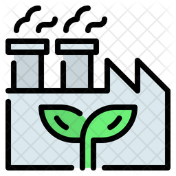 Factory Colored Outline Icon