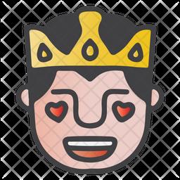 Fall In Love King Emoji Icon