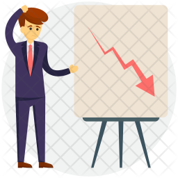 Falling Graph Icon