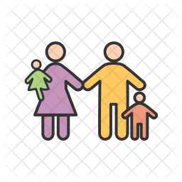 Family Colored Outline Icon