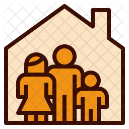 Family home Colored Outline Icon