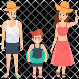 Family on Beach Icon