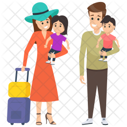 Family on Vacation Icon