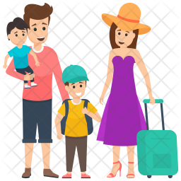 Family on Vacations Icon