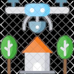 Farm Robot Flat Icon