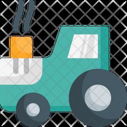 Farm tractor Flat Icon