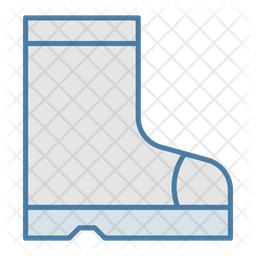 Farming Boots Colored Outline Icon