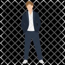 Fashionable Guy Icon