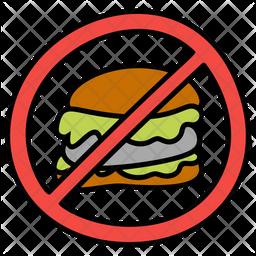 Fast Food Prohibition Icon