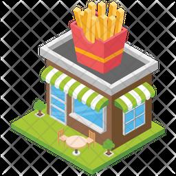 Fast Food Shop Icon