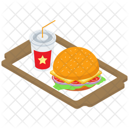 Fast Food Tray Icon