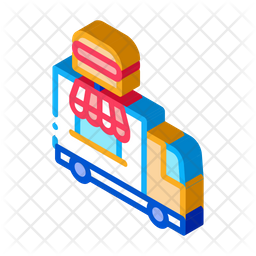 Fast Food Truck Icon