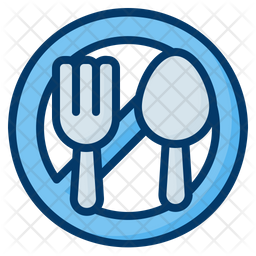 Fasting Colored Outline Icon