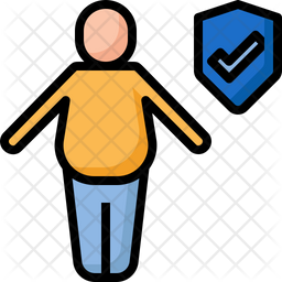 Fat people insurance Icon