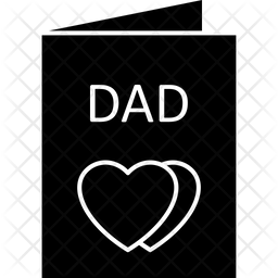 Father Card Glyph Icon