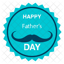 Fathers Day Badge Icon