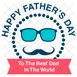 Fathers Day Sticker Icon