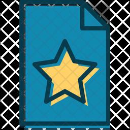 Favorite File Colored Outline Icon