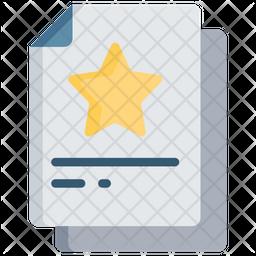 Favourite Document Icon